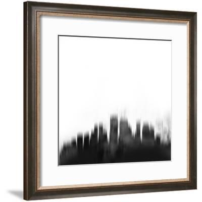 New Orleans City Skyline - Black-NaxArt-Framed Art Print