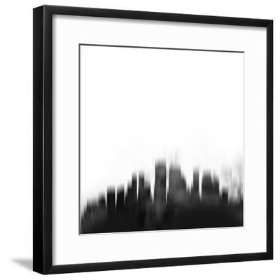 New Orleans City Skyline - Black-NaxArt-Framed Art Print