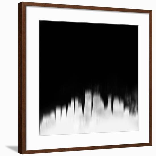 New Orleans City Skyline - White-NaxArt-Framed Art Print