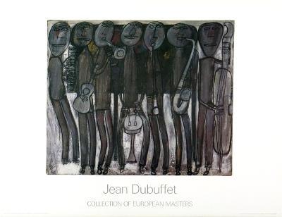 New Orleans Jazz Band-Jean Dubuffet-Art Print