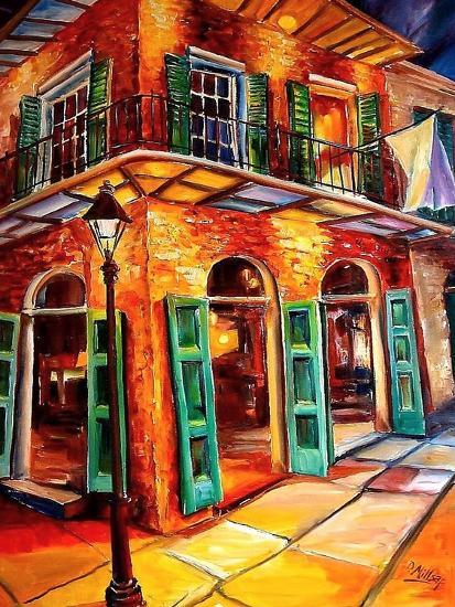 New Orleans Jazz Corner-Diane Millsap-Art Print