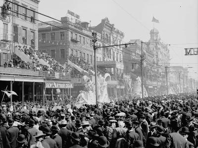 """New Orleans, Louisiana, Mardi Gras Day, the """"Red"""" Pageant, C.1890-1910--Photographic Print"""