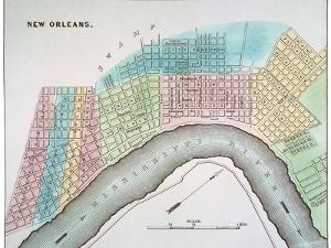 New Orleans Map, 1837