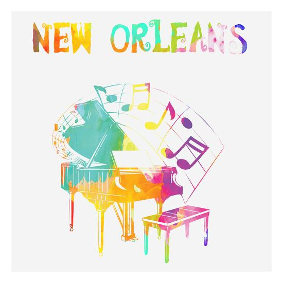 New Orleans Piano-Sheldon Lewis-Art Print