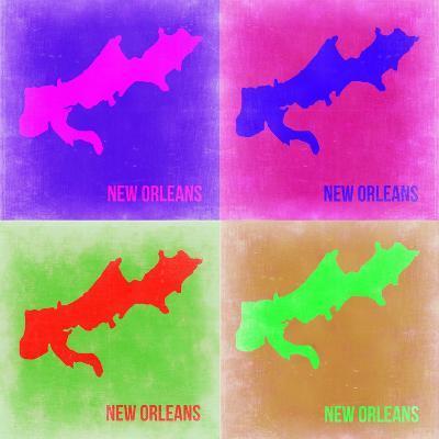 New Orleans Pop Art Map 2-NaxArt-Art Print