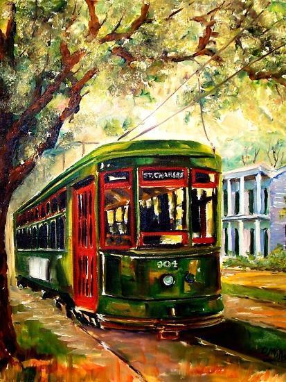 New Orleans St Charles Streetcar Art Print Diane Millsap Art Com