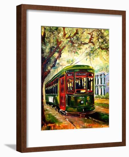 New Orleans St Charles Streetcar-Diane Millsap-Framed Art Print