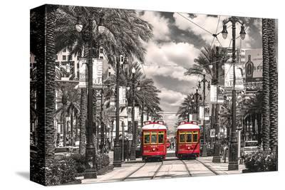 New Orleans Streetcars--Stretched Canvas Print