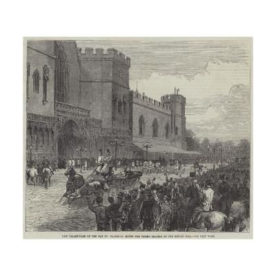 New Palace-Yard on the Day Mr Gladstone Moved the Second Reading of the Reform Bill--Giclee Print