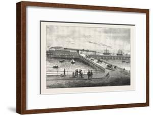 New Pier and Railway Station, for Portsmouth Harbour, 1876, Uk