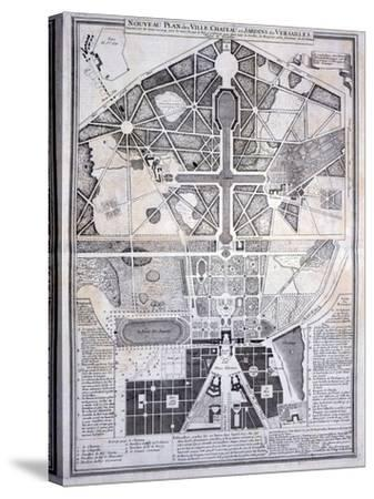 New Plan of the Town, Castle and Gardens at Versailles, c.1714