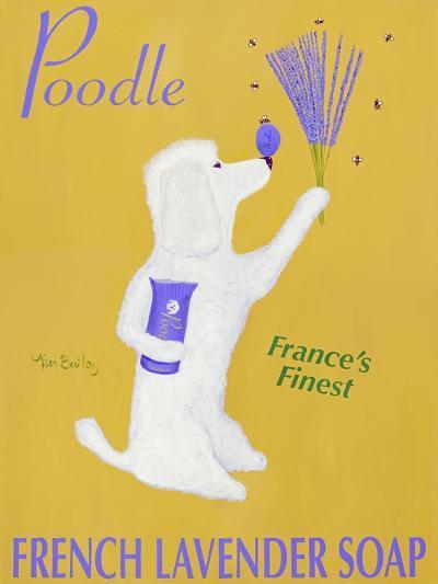 New Poodle Lavender-Ken Bailey-Premium Giclee Print