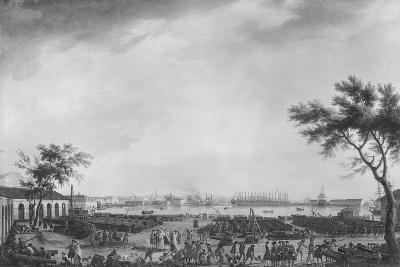 New Port and Arsenal of Toulon, Seen from the Artillery Depot, 1755-Claude Joseph Vernet-Giclee Print
