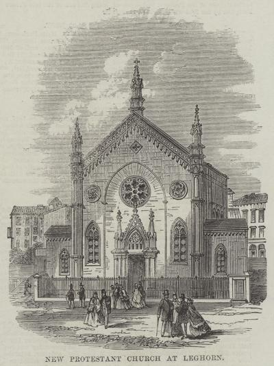 New Protestant Church at Leghorn--Giclee Print