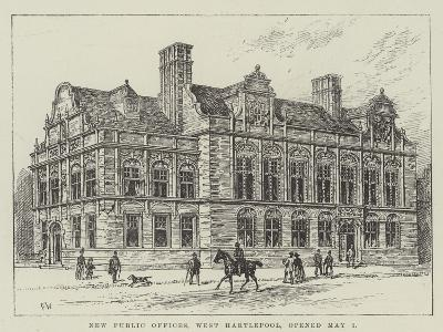 New Public Offices, West Hartlepool, Opened 1 May-Frank Watkins-Giclee Print