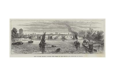 New Putney Bridge, Opened This Week by the Prince and Princess of Wales--Giclee Print