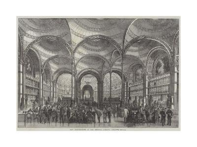 New Reading-Room at the Imperial Library, Paris--Giclee Print
