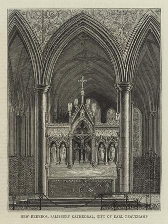 New Reredos, Salisbury Cathedral, Gift of Earl Beauchamp--Giclee Print