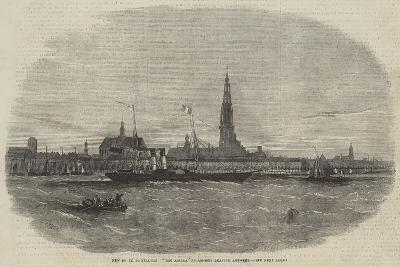 New Route to Belgium, The Aquila Steam-Ship Leaving Antwerp-Edwin Weedon-Giclee Print
