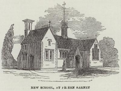 New School, at Friern Barnet--Giclee Print