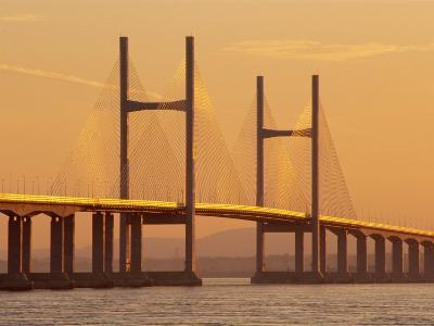 New, Second, Severn Bridge, River Severn, Avon, England, UK, Europe-Roy Rainford-Photographic Print