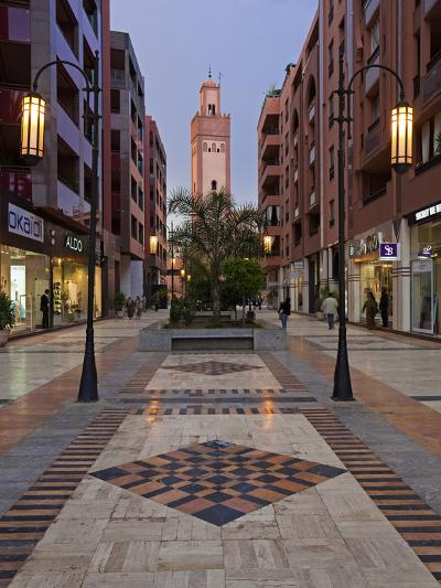 New Shopping Center and Apartments in the Wealthy Area of Gueliz in Marrakesh, Morocco-Gavin Hellier-Photographic Print