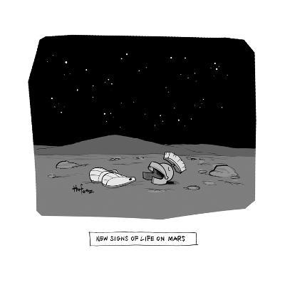 New Signs of Life on Mars - Cartoon-Kaamran Hafeez-Premium Giclee Print