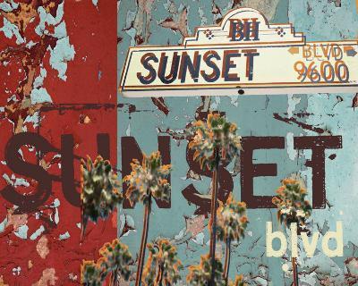 New Sunset Blvd-Mj Lew-Art Print