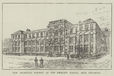New Technical Schools at the People's Palace, Mile End-Road-Frank Watkins-Giclee Print