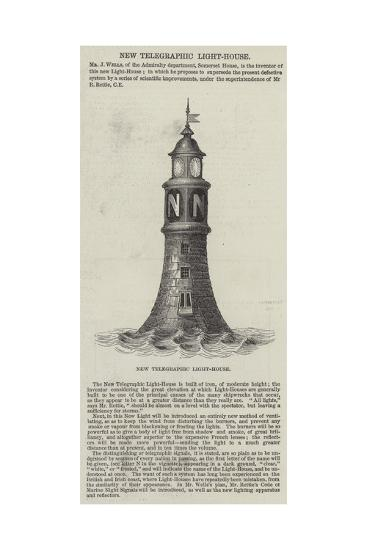 New Telegraphic Light-House--Giclee Print