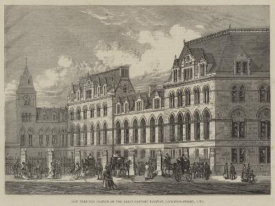 New Terminus Station of the Great Eastern Railway, Liverpool-Street, City--Giclee Print