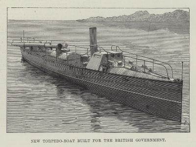 New Torpedo-Boat Built for the British Government--Giclee Print