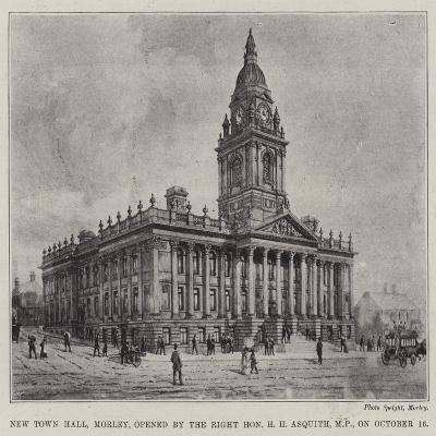 New Town Hall, Morley, Opened by the Right Honourable H H Asquith, Mp, on 16 October--Giclee Print