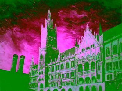 New Town Hall Munich-Markus Bleichner-Art Print