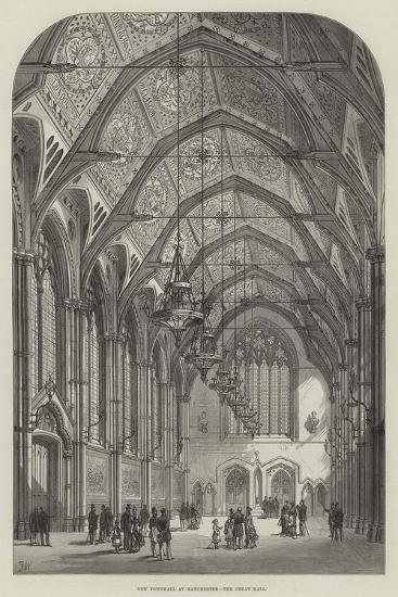 New Townhall at Manchester, the Great Hall-Frank Watkins-Giclee Print
