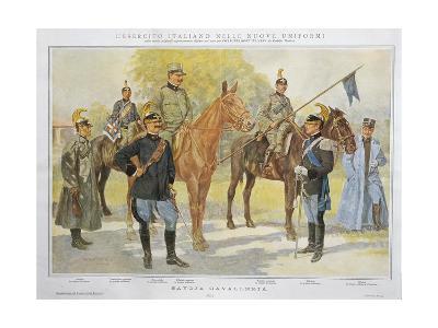New Uniforms of Savoy Cavalry, 1913--Giclee Print