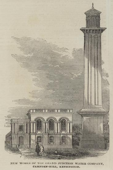 New Works of the Grand Junction Water Company, Campden-Hill, Kensington--Giclee Print