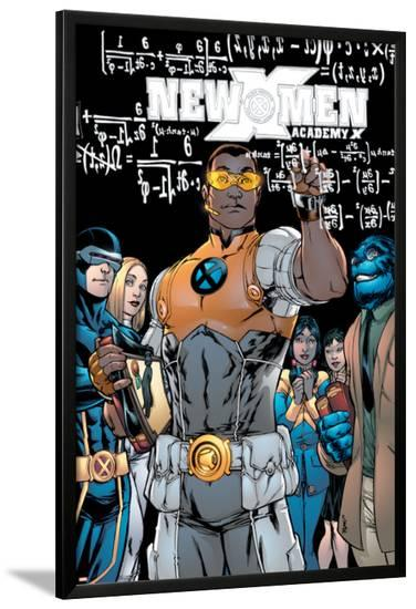 New X-Men No.10 Cover: Prodigy, Beast and Cyclops-Michael Ryan-Lamina Framed Poster