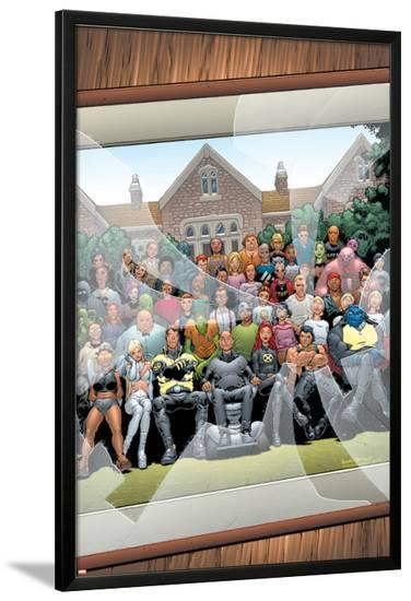 New X-Men No.126 Cover: Professor X, Cyclops, Grey, Jean, Wolverine and Beast-Frank Quitely-Lamina Framed Poster