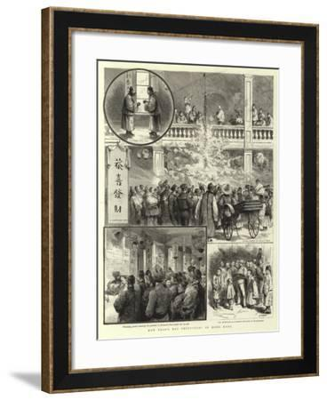 New Year's Day Festivities in Hong Kong-Godefroy Durand-Framed Giclee Print