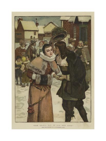 New Year's Day in Old New York-George Henry Boughton-Giclee Print