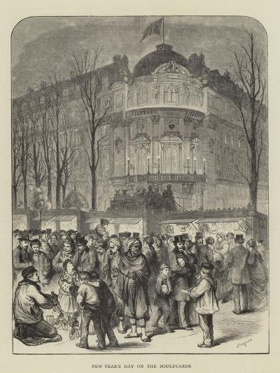 New Year's Day on the Boulevards-Godefroy Durand-Giclee Print
