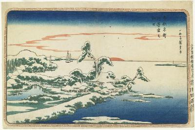 New Year's Day Sunrise at Susaki in Snow, C. 1831-Utagawa Hiroshige-Giclee Print