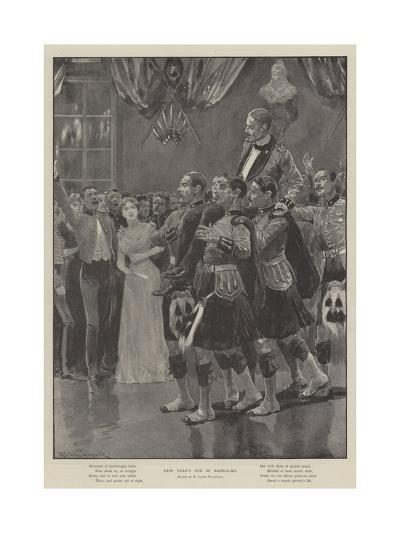 New Year's Eve in Barracks-Richard Caton Woodville II-Giclee Print