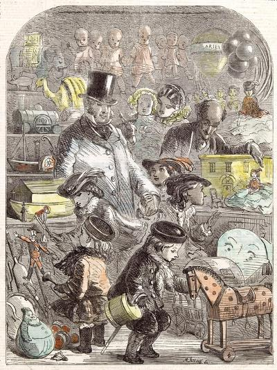 New Year's Gifts, the Toyshop, Jackson Children, 1860--Giclee Print