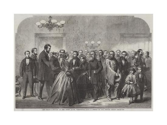 New-Year's Reception at the White House, Washington--Giclee Print