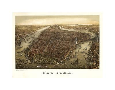New York, 1873-Ward Maps-Art Print