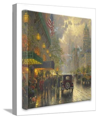 New York 5th Avenue-Thomas Kinkade-Gallery Wrapped Canvas