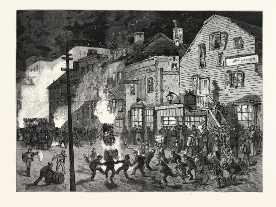 New York: after the Closing of the Polls; Demonstrations of Young America in the Sixth Ward. U.S.--Giclee Print