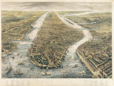 New York and its Environs, 1867--Giclee Print